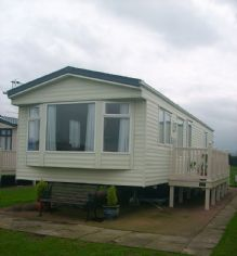 Holiday Caravan Dog Friendly at Blue Anchor Bay Somerset